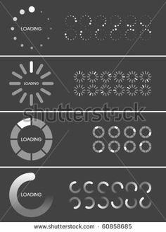 Vector Loader Progress Bar Designs
