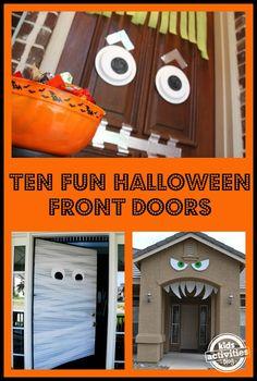 Ten Fun Halloween Front Doors