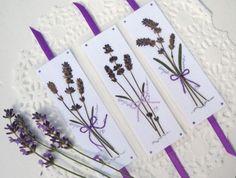 Lavender Bookmarks, Lavender Bouquets on Bookmarks, Set of 9 Pressed Flower Bookmarks, Laminated Bookmarks, Little Gift, Wedding or Gardener