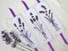 Lavender Bouquet Bookmarks Set of 9 by PatsysPressedFlowers, $36.00