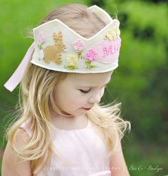 Easter Basket Gifts | How gorgeous is this handmade Easter crown!