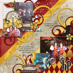A Wizard's World Collection Bundle by Meagan's Creations, LDrag Designs, and Wimpychompers Creations Woodland templates 2 - Meagan's Creations Vacation Scrapbook, Disney Scrapbook Pages, Scrapbook Journal, Scrapbook Cards, Harry Potter Scrapbook, Harry Potter Cards, Harry Potter World, Scrapbook Designs, Scrapbook Page Layouts