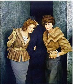Suzy Parker and Simone D'Aillencourt 1959