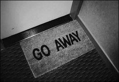 Go away door mat.