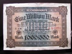 This is money worth marks, even this wasn't worth anything anymore, the more of these that you had then the more that the cost of things went up. Bank Account Balance, Money Notes, Coins, Germany, Personalized Items, Fiat, Paper, Stamps, History