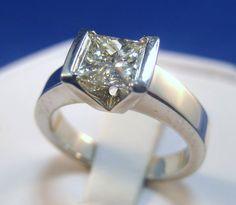 Unique Modern Diamond Engagement Rings | Modern Princess Cut Diamond Engagement Ring | Yelp