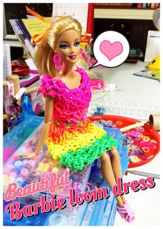 Barbie with the 1st loom dress