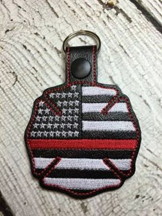 US Flag – Back the Red – Fireman – Maltese Cross – Firefighter – Fireman – In The Hoop – Snap/Rivet Key Fob Maltese Cross Firefighter, Police Officer Gifts, Machine Embroidery Designs, Embroidery Ideas, Red Design, Glitter Vinyl, Baby Boutique, Key Fobs, Handmade Baby