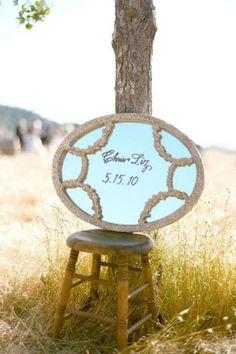 brides of adelaide magazine mirror sign wedding decor