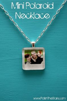 Jewelry Photo Craft~  This mini photo photo necklace is kind of my version of the old photo locket.  It iss really easy to make!