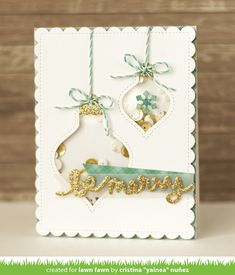 the Lawn Fawn blog: Lawn Fawn Intro: Stitched Ornaments