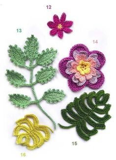 Crochet flowers instructions