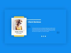 Client Review Section by Junaed Ahmed Numan #Design Popular #Dribbble #shots