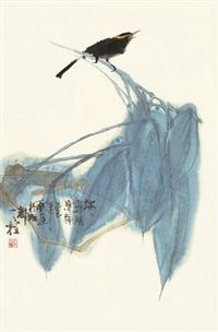 View 鸟鸣 by Qin Tianzhu on artnet. Browse upcoming and past auction lots by Qin Tianzhu. Sumi E Painting, Japan Painting, Chinese Painting, Chinese Art, Japan Art, Watercolor And Ink, Painting Inspiration, Illustrations Posters, Artist