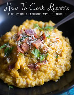 Creamy Maple Bacon Pumpkin Risotto--swap quinoa for rice Pasta Dishes, Food Dishes, Risotto Dishes, Side Dishes, Parmesan Risotto, Polenta, Couscous, Risotto Receita, Snacks