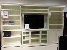 Ikea Liatorp entertainment center combination. Store movies, games, books/cookbooks.