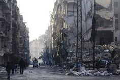 Aleppo, Syria Residents return to the formerly rebel-held al-Shaar neighbourhood