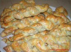 Nivové tyčinky Bread And Pastries, French Pastries, Biscuit Cookies, Russian Recipes, Pretzel Rolls, Brunch, Food And Drink, Appetizers, Cooking Recipes