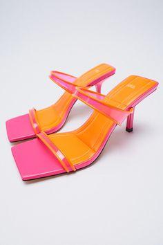 SANDALIA TIRAS VINILO | ZARA España Strappy Sandals Heels, Zara United States, Kitten Heels, Tabata, Shoes, Fashion, High Shoes, Heel, Strappy Sandals