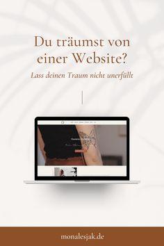 Deine Vision hat eine Website verdient, also worauf wartest du noch? #website #monalesjak #branddesign #webdesign #websitetemplate #visionboard #selbstständigkeit #vision