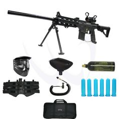 """Tippmann US Army Project Salvo Paintball Gun with DP130 Red Dot Bipod 22"""" Barrel Elite Package by Tipp. $262.00. Included 7 items in this package: 1. Tippmann US Army Project Salvo Paintball Gun w/ DP130 Bipod 22"""" (Description:) 2. GXG Stealth XVSN X-VSN Anti Fog Paintball Goggles Mask - Black (Description: Quick release system, Low Profile Design, Comes standard with visor and strap, Exceeds ASTM standards, ) 3. GXG Paintball 200 Round Gravity Feed Loader Hopper Tippmann S..."""