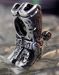 western boots charm bead jewelry sterling silver 925 Real Sterling silver 925 pendant Charm jewelryLike this item find it at https://www.etsy.com/shop/princeofdiamonds
