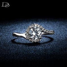vintage white gold plated rings for women wedding engagement AAA CZ diamond ring bague elegant anel bijoux femme jewelry DD049