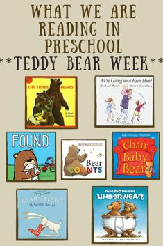 What We Are Reading – Teddy Bear Week! Bear Theme Preschool, Preschool Themes, Preschool Kindergarten, Preschool Learning, Learning Time, Teddy Bear Day, Teddy Bears, Preschool Summer Camp, Everything Preschool
