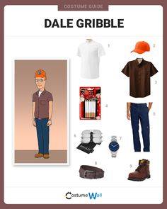 Get the look of Dale Gribble, the chain-smoking, bug exterminator from the Fox television show King of the Hill.