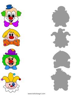 Clown Crafts, Le Clown, Craft Activities, Disability, School, Smurfs, Diy And Crafts, Kindergarten, Clip Art