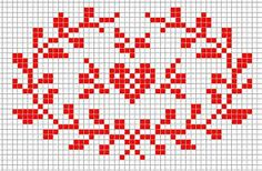 Steekjes & Kruisjes van Marijke: Kussentje rood