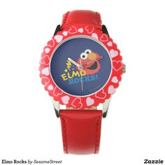 Shop Elmo Rocks Watch created by SesameStreet. Feast Of Love, Rock Watch, Rose Decor, Presents For Kids, Disney Nails, Small Faces, Telling Time, Love Symbols, Elmo
