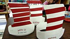 The Cat in the Hat! craft for Ian's party