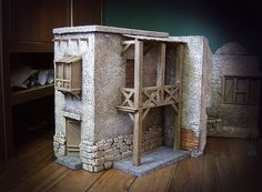 Foro de Belenismo - Paso a paso -> Construcción 2015                                                                                                                                                                                 Más Nativity House, Diy Nativity, Christmas Nativity Scene, A Christmas Story, Casa Estilo Tudor, Cardboard Box Houses, Ceramic Houses, Miniature Houses, Miniture Things