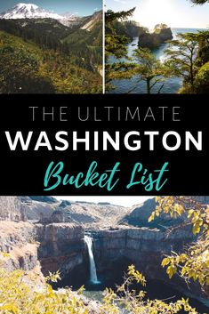 The ultimate Washington state bucket list! This upper left corner of the United States is filled with iconic landmarks and hidden gems. If you haven't been to the state before, there are a number of top attractions you must tick off your bucket list. Usa Travel, Travel Tips, Amazing Destinations, Travel Destinations, Travel Around The World, Around The Worlds, Orcas Island, Road Trip Usa, Plan Your Trip