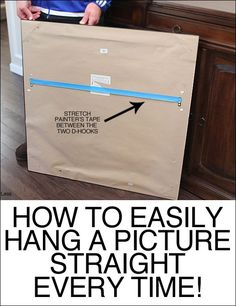 Art and picture hanging tips. How to easily hang a picture straight every single time. Maybe you guys know this one too? Well if not, I'm about to blow your minds. All you need is: hammer drill screws …