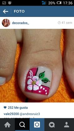 Different outlook of a French Pedicure Toenail Art Designs, Pedicure Designs, Pedicure Nail Art, Toe Nail Designs, Toe Nail Art, Easy Nail Art, Toe Nails, French Pedicure, Nails Only