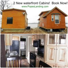 Taking reservations for this new waterfront cabin now! www.PopesLanding.com