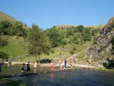 Stepping Stones at Dovedale, the Peak District, UK