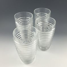 Crate & Barrel iced tea glasses set of 4 by PrairieDecArts on Etsy
