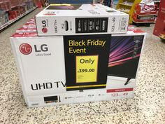 Large electronics in Tesco.  The style in which this is presented is reminiscent of what we would expect to see in larger Currys PC World stores