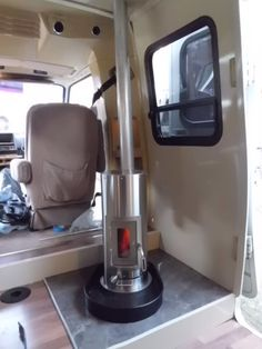 KimberLy wood stove for RV's. I need to see if our RV locations sell these. Nice and slender.
