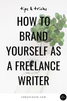 Have you ever wondered why people talk so much about branding yourself and your business? Maybe you've heard it in terms of choosing your niche. Make Money Writing, Writing Tips, Writing Prompts, Online Writing Jobs, Freelance Writing Jobs, Brand Marketing Strategy, Word Of Mouth, Build Your Brand, Writing Inspiration