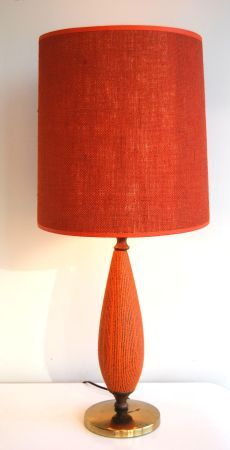 Striking retro mid-century modern lamp, from the 1950s or 1960s, in excellent vintage condition. #design #toronto