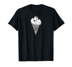 Funny Hedgehog, Graphic Shirts, Branded T Shirts, Fashion Brands, Ice Cream, Amazon, Mens Tops, Stuff To Buy, Ice Candy