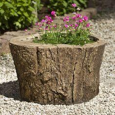 Campania International Adirondack Cast Stone Planter - Garden Planters at Hayneedle Stone Planters, Urn Planters, Outdoor Planters, Outdoor Gardens, Planter Garden, Cheap Planters, Cacti Garden, Mini Gardens, Modern Planters