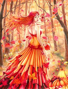 Autumn Queen by Catalina-Estefan on DeviantArt