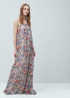 Lange gebloemde jurk
