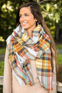 Mountain View Scarf-Harvest - New Today | The Red Dress Boutique