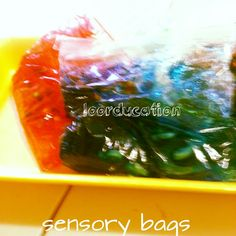 Sensory bags  2 ingredients